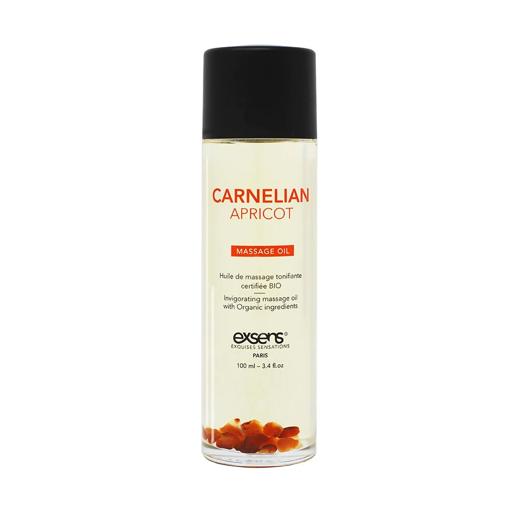 Carnelian Apricot Crystal Massage Oil